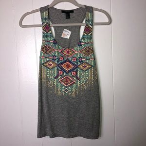 NWT tribal print embroidered tank top